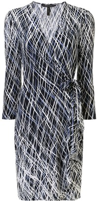 BCBGMAXAZRIA Ruffled Graphic-Print Mini Dress
