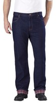 Dickies Men's Big & Tall Relaxed Straight Fit Denim Flannel-Lined 5-Pocket Jeans