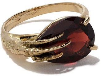 Wouters & Hendrix Gold 18kt Gold Claw Garnet Ring