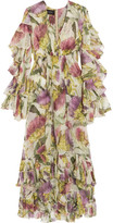 Gucci Printed Silk-chiffon Dress - Pink