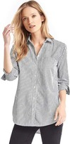 Gap Stud embellished stripe boyfriend shirt