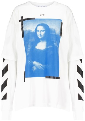 Off-White Printed cotton top