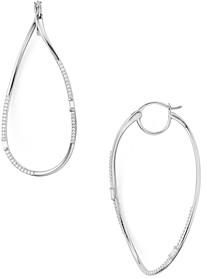 Nadri Mercer Baguette & Pave Twist Drop Earrings