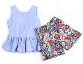 maifeng 2PCS Toddler Kids Baby Girls T-shirt Tops+Floral Shorts Pants Outfit Clothes Set (1T-2T)