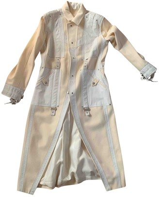 Christian Dior White Leather Coat for Women Vintage
