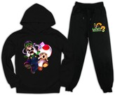 Thumbnail for your product : Ktop Lui_Gi's Man-Sion Kids Boys Girls Hooded Sweatshirt Set and Sweatpants Suit 2 Piece Outfit 10-11 Years Black