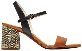 Cole Haan Josie Block-Heel Leather Sandals
