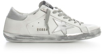 Golden Goose Sneakers Superstar White Silver Sparkle