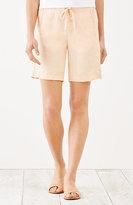 J. Jill Yarn-Dyed Linen Drawstring-Waist Shorts