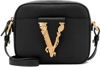 Versace Virtus leather crossbody bag
