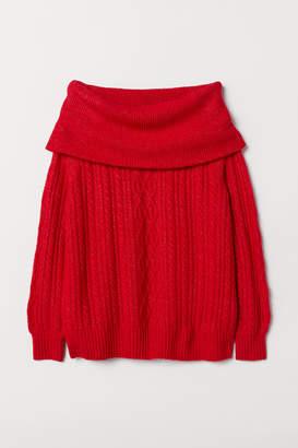 H&M Off-the-shoulder jumper
