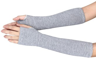 Canifon Sweater Canifon Women's Knitted Arm Warmer Stretchy Soft Fingerless Gloves Winter Elbow Length Thumb Hole Long Mittens
