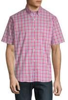 Tailorbyrd Baku Plaid Short-Sleeve Cotton Button-Down Shirt