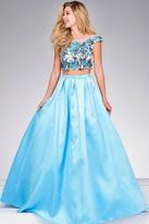 Jovani Floral BodiceTwo Piece A Line Dress JVN48713