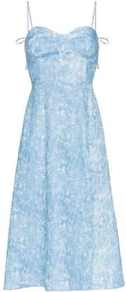 Reformation Nebraska strappy midi dress