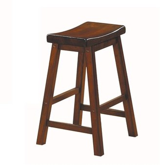 "Winston Porter Rita Solid Wood 24"" Counter Bar Stool Color: Cherry Brown"