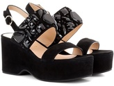 Marc Jacobs Lily Embellished Suede Sandals