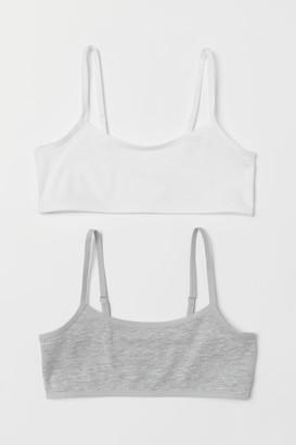 H&M 2-pack Short Jersey Tops - Gray
