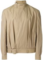 J.W.Anderson belted collar jacket - men - Cotton/Nylon/Cupro - 50