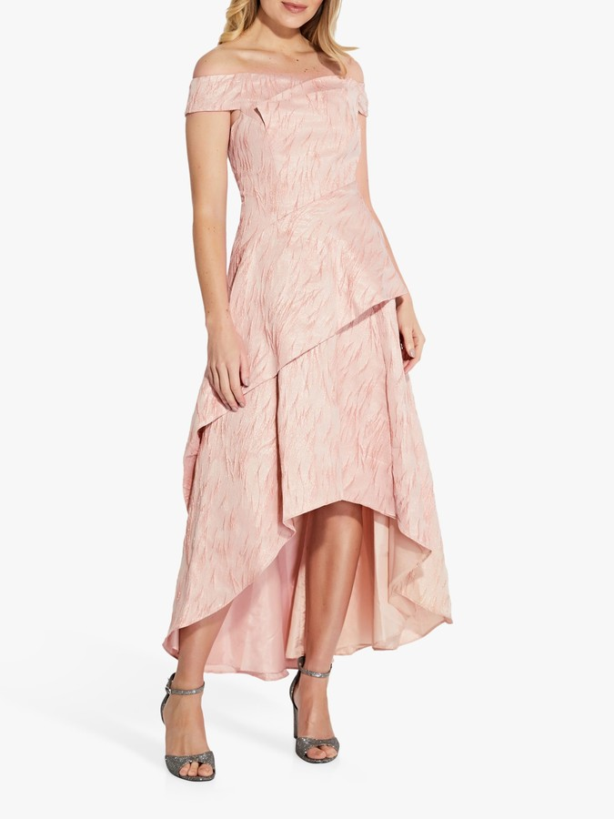 Adrianna Papell Textured Draped Gown, Blush