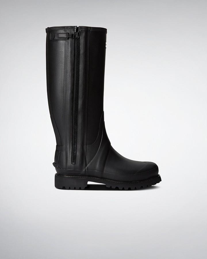 Hunter Men's Balmoral Field Full Rubber Zip Wellington Boots