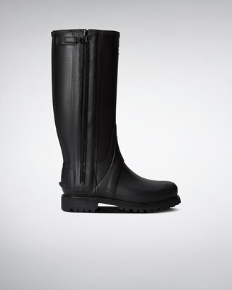Hunter Men's Balmoral Field Full Rubber Zip Wellington Boots