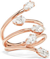 Anita Ko Vine 18-karat Rose Gold Diamond Ring - 6
