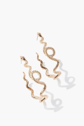 Forever 21 Snake Pendant Hoop Earrings