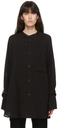 Regulation Yohji Yamamoto Black Tencel Shirt