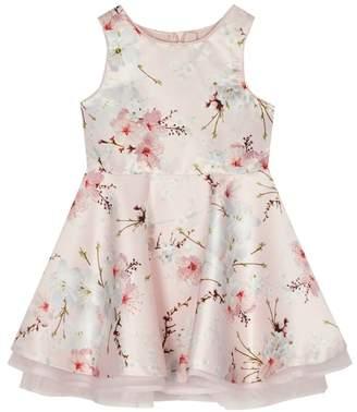 Baker by Ted Baker - 'Girls' Light Pink Satin Floral Print Dress