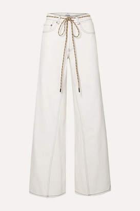Ganni High-rise Wide-leg Jeans - White