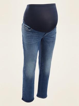 Old Navy Maternity Full-Panel Straight Jeans