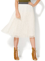 New York & Co. Pleated Lace Skirt