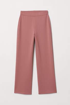 H&M Wide-cut Jersey Pants - Pink