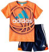 adidas Baby Boy Sport Tee & Shorts Set