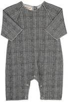 Amelia Glen Plaid Piqué Cotton Coveralls