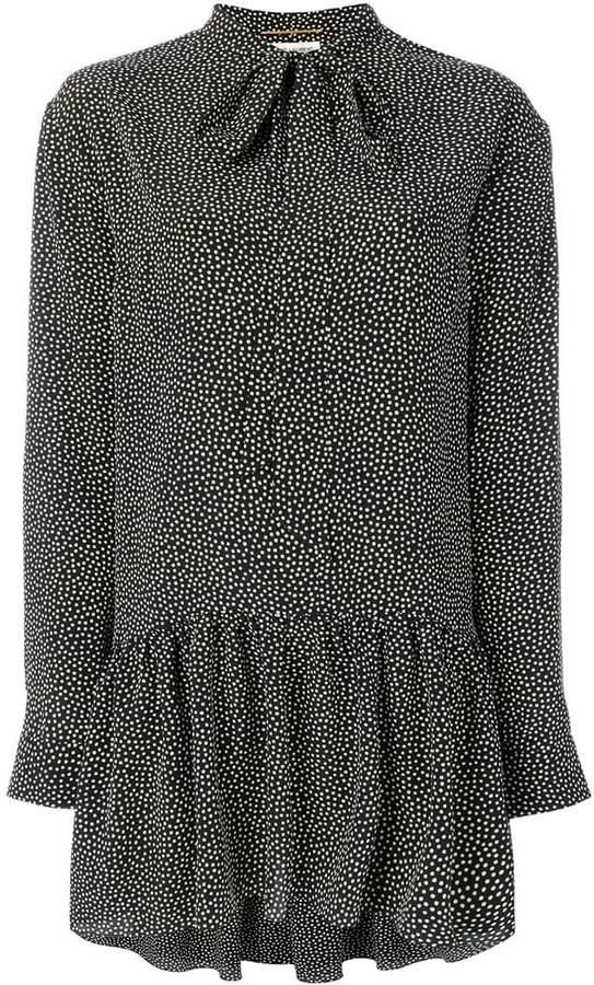 ditsy floral tie neck dress - Black Saint Laurent Uhf8uZ7k