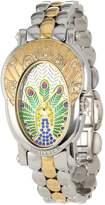 Brillier Women's 18-14 Royal Plume Peacock Inspired Swiss Genuine Fancy Multi-Colored Diamonds Watch