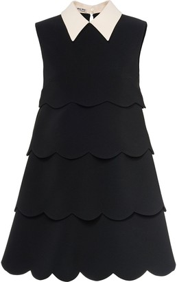 Miu Miu Scalloped Faille Cady Dress
