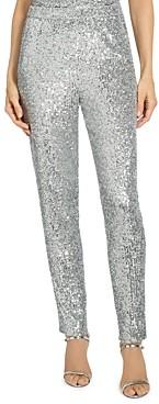 St. John Starlight Sequined Mesh Pants