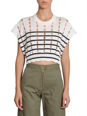 T by Alexander Wang Cotton Pullover With Slits