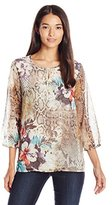 Alfred Dunner Women's Floral Tunic