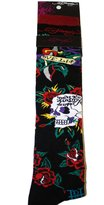 Ed Hardy Skull & Rose Women's Knee High Socks - Black