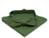 General Knot & Co Moss Requisite Bow Tie & Square Set