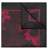 HUGO BOSS - Silk Pocket Square With Logo In Floral Print - Open Pink