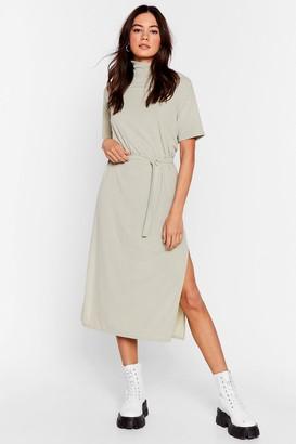 Nasty Gal Womens Tee Bt Belted Midi Dress - Beige - 6
