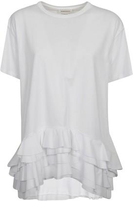 Alexander McQueen Ruffled Hem T-shirt