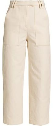 LVIR Pleasant Utility Big Pocket Linen-Blend Pants
