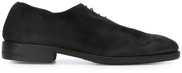 Guidi distressed lace-up shoes