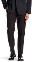 Bonobos Foundation Blue Checkered Regular Fit Double-Pleated Cotton Trouser - 30-34 Inseam